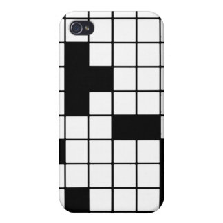 CROSSWORD PUZZLE PATTERN GRAPHICS GAMES FUN WORDS iPhone 4 COVERS