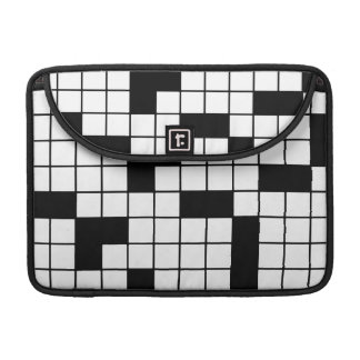 CROSSWORD PUZZLE PATTERN GRAPHICS GAMES FUN WORDS MacBook PRO SLEEVES