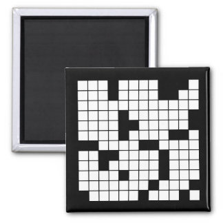CROSSWORD PUZZLE PATTERN GRAPHICS GAMES FUN WORDS MAGNET
