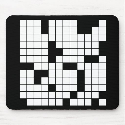 CROSSWORD PUZZLE PATTERN GRAPHICS GAMES FUN WORDS MOUSEPAD
