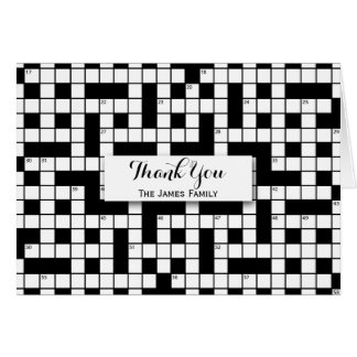 Crossword Puzzle Personalized Card