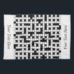 """Crossword Puzzle Personalized Hand Towel<br><div class=""""desc"""">crossword puzzle personalized with name or text This is a wonderful gift idea for someone special, for a special celebration, a birthday party, Christmas present or any gift giving occasion. This unique gift can be customized to fit your needs. Images can be added, changed or moved. Text can be changed...</div>"""