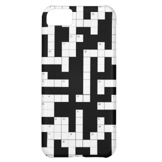 Crossword puzzle phone case - fill in the blanks case for iPhone 5C