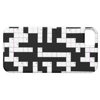 Crossword puzzle phone case - fill in the blanks iPhone 5 case