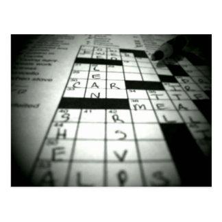 Crossword Puzzle postcard