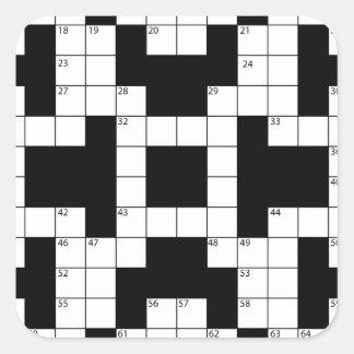Crossword Puzzle Square Sticker