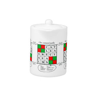 Crossword Puzzle Teapot