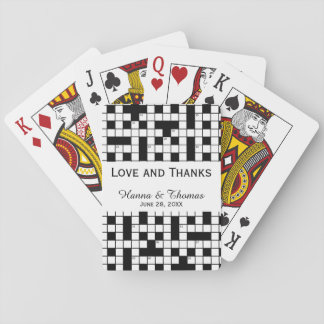 Crossword Puzzle Theme Wedding Playing Cards