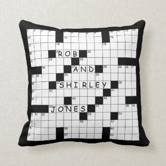 Crossword Puzzle Throw Pillow