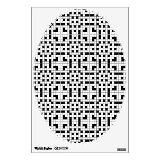 Crossword Puzzle Toilet Lid Decal