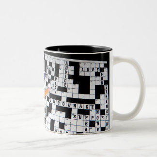 Crossword Puzzle Two-Tone Coffee Mug