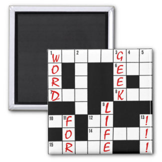 Crossword Puzzle Word Geek For Life Fridge Magnets