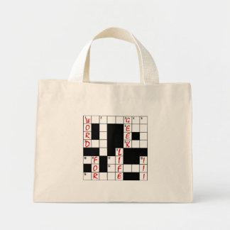 Crossword Puzzle Word Geek For Life Mini Tote Bag