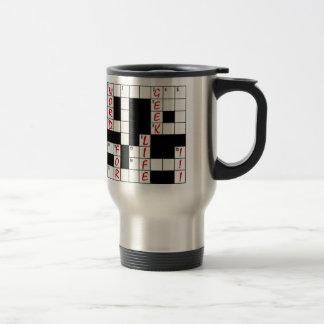 Crossword Puzzle Word Geek For Life Travel Mug