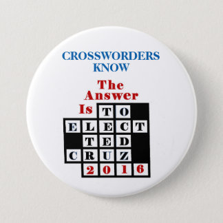 Crossword Puzzlers for Cruz Pinback Button
