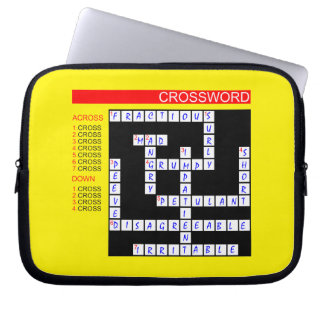 Crossword Puzzles Can Be Frustrating Laptop Sleeve