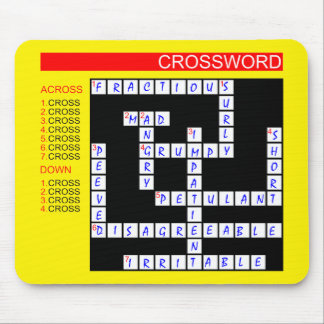Crossword Puzzles Can Be Frustrating Mouse Pad