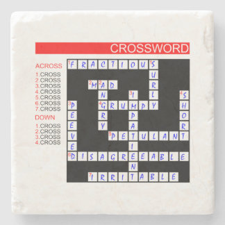 Crossword Puzzles Can Be Frustrating Stone Coaster