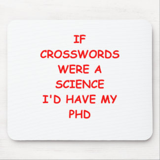 crossword puzzles mouse pad