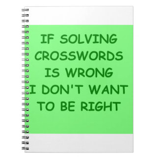 crossword puzzles notebook