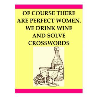 crossword puzzles postcard