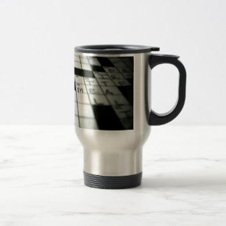 Crossword travel mug