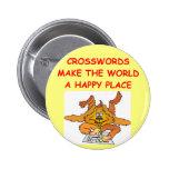 crosswords 2 inch round button