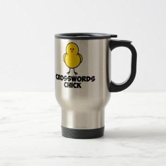 Crosswords Chick Travel Mug
