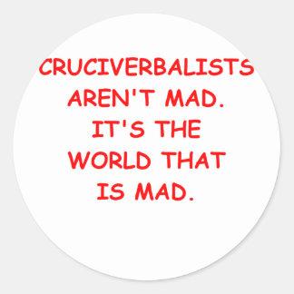 crosswords classic round sticker