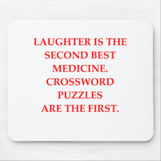 crosswords mouse pad