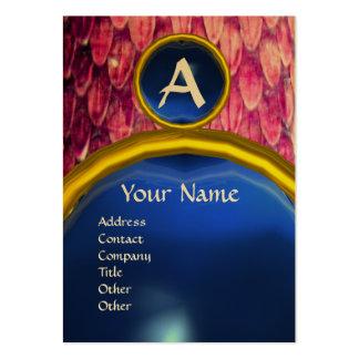 CROTALUS MONOGRAM AMETHYST,bright bold pink purple Large Business Card