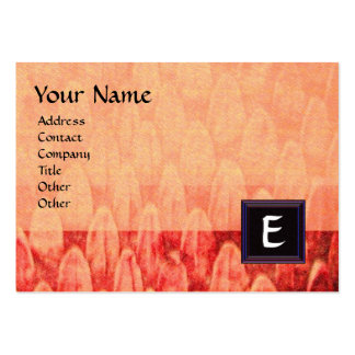 CROTALUS MONOGRAM ,bright bold black pink red Large Business Card