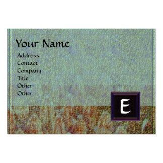 CROTALUS MONOGRAM,bright bold brown black grey Large Business Card