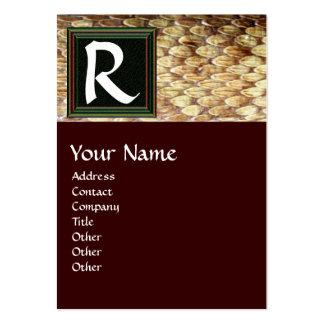 CROTALUS MONOGRAM,bright bold brown black Large Business Card