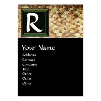 CROTALUS MONOGRAM,bright bold brown black white Large Business Card