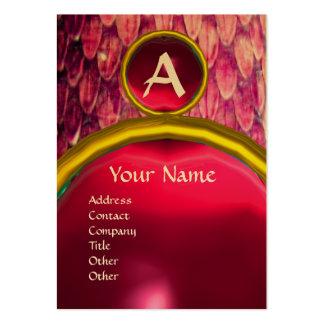 CROTALUS MONOGRAM TOPAZ ,bright bold pink purple Large Business Card