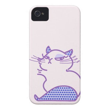 Crotch lining of dot handle cat Chic cat with dot Case-Mate iPhone 4 Case