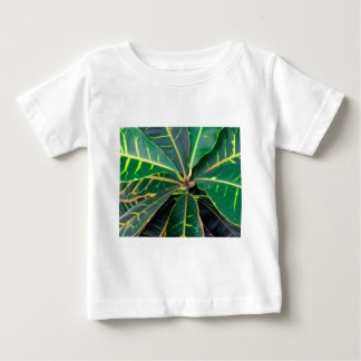 Croton Green Leaves Background Baby T-Shirt