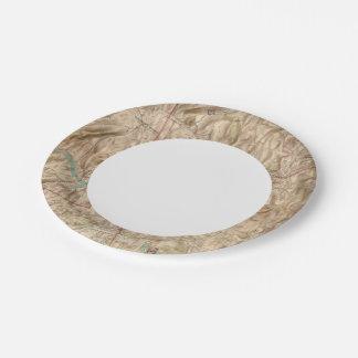 Croton Lake Vicinity Paper Plate