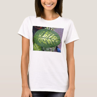 Croton Leaves Texture in Detail T-Shirt