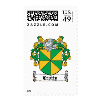 Crotty Family Crest Postage