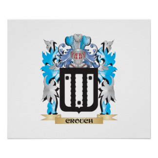 Crouch Coat of Arms - Family Crest Poster