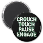Crouch Touch Pause Engage Rugby Tees Magnets