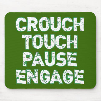 Crouch Touch Pause Engage Rugby Tees Mouse Pad