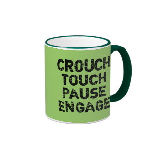 Crouch Touch Pause Engage Rugby Tees Ringer Coffee Mug