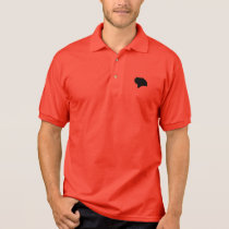 Crouching Black Cat Silhouette Polo Shirt
