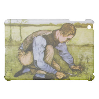 Crouching boy with sickle iPad mini cases