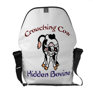 Crouching Cow Hidden Bovine Courier Bag