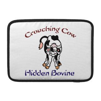 Crouching Cow Hidden Bovine MacBook Sleeves