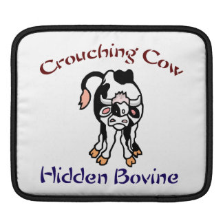 Crouching Cow Hidden Bovine iPad Sleeve